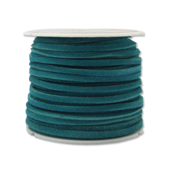 5014-08  Suede Lace 1/8`` x 25 yds. (0,3 cm x 22.9 m) Turquoise