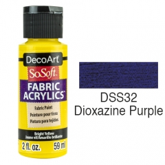 SoSoft Fabric Color-2oz(59ml)-DSS32-Dioxazine Purple