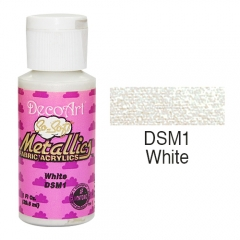 SoSoft Fabric Color-1.15oz(29.6ml)-DSM1-White Metallic